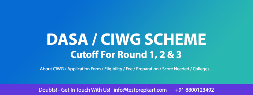 DASA CIWG | Branch wise cutoffs | Round 1, 2, 3