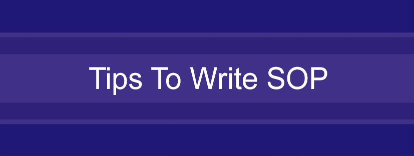 Tips To Write SOP For College Admission