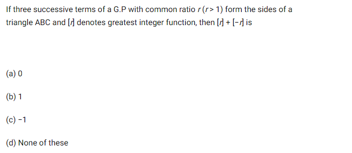 JEE Mathematics Question