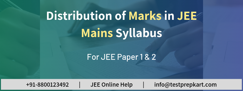 Marks Distribution In JEE Mains Syllabus for Paper 1 & 2