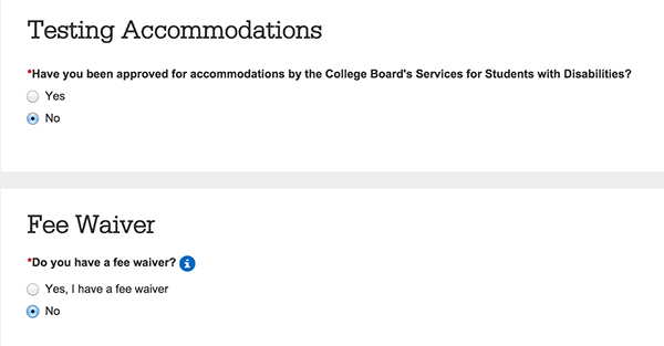 create your college board account