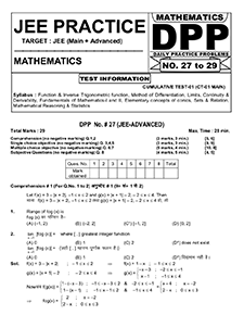 Download JEE Math DPP (Daily Practice Papers)